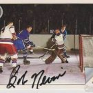 Original BOB NEVIN Autographed NHL Ultimate 2.5x3.5 Card w/COA