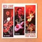 """G3 Signed Autograph by STEVE VAI,YNGWIE MALMSTEEN,JOE SATRIANI  """"LIVE"""" CD w/COA"""