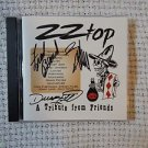 """ZZ TOP Signed Autograph by all 3  """"A TRIBUTE FROM FRIENDS"""" CD  w/COA"""