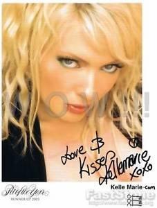 Original Adult Porn Star KELLE MARIE Signed Autograph 8X10 Photo Pic wCOA