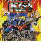 "KISS Original Autographed Signed by 3 FOUNDERS ""ARCHIE Meets KISS"" w/COA"