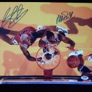 Original MAGIC JOHNSON & DENNIS RODMAN Signed Autograph 11x14 Photo Pic w/COA