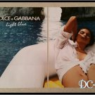 DOLCE & GABBANA 2 Page Light blue Unscented Perfume Ad