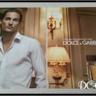 2 Page Matthew McConaughy DOLCE & GABBANA Unscented Cologne Ad