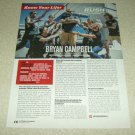 Bryan Campbell 1 Page Article/Clipping