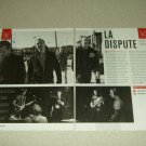 La Dispute 2 Page Article/Clipping