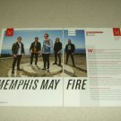 Memphis May Fire 2 Page Article/Clipping