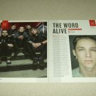 The Word Alive 2 Page Article/Clipping