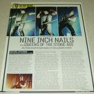 Nine Inch Nails 1 Page Article/Clipping Trent Reznor