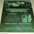 Matrix Revolutions DVD/Movie Ad - Keanu Reeves