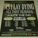 As I Lay Dying Tour Ad/Clipping All That Remains Haste The Day