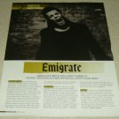 Richard Kruspe 1 Page Article/Clipping Emigrate
