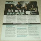 The Devil Wears Prada 1 Page Article/Clipping #2