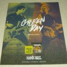 Green Day Ernie Ball Ad