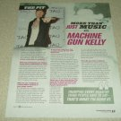 Machine Gun Kelly 1 Page Article/Clipping