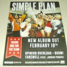 Simple Plan - Taking One For The Team Album Ad