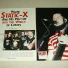 Static-X 2 Page Article/Clipping #5 - Pinup - Wayne Static