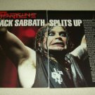 Black Sabbath 2 Page Article/Clipping - Ozzy Osbourne