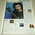 Toni Iommi 1 Page Article/Clipping - Black Sabbath