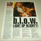 b.l.o.w. 1 Page Article/Clipping
