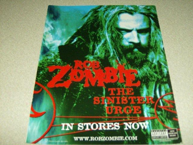 Rob Zombie - The Sinister Urge Album Ad