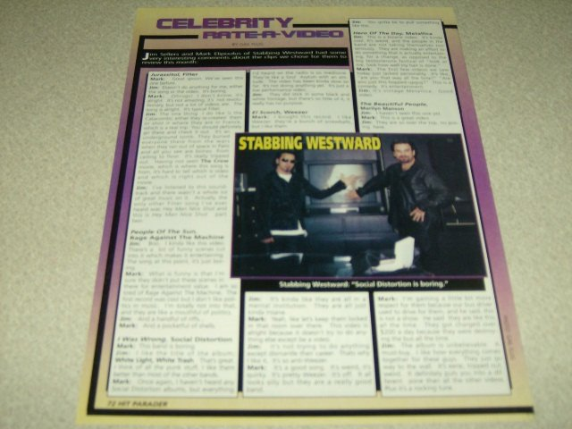 Stabbing Westaward 1 Page Article/Clipping #2