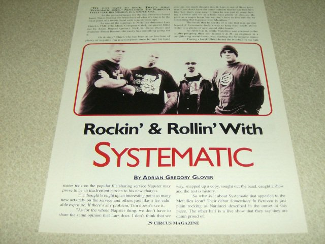 Systematic 1 Page Article/Clipping