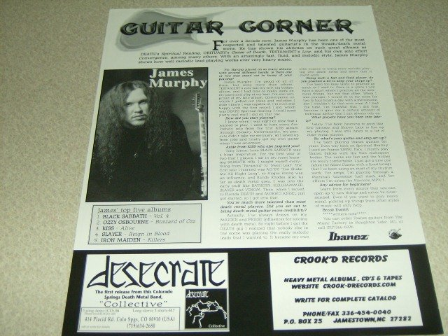 Testament 1 Page Article/Clipping #2 - James Murphy