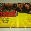 Testament 2 Page Article/Clipping