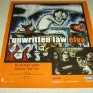 Unwritten Law - Elva Album Ad