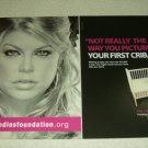 Fergie 2 Page Candie's Foundation Ad/Clipping - Black Eyed Peas