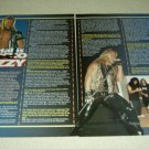 Metal is Fozzy 3 Page Article/Clipping