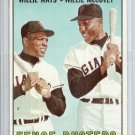 1967 TOPPS Baseball Willie MAYS McCovey #423 Fence Busters San Francisco Giants