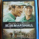 We Are Marshall Blu-ray True Story NEW Sealed Matthew McConaughey Football Movie