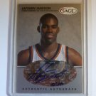ANTAWN JAMISON 1999 Sage Silver Auto Graph ALL ROOKIE #182/295 A26 UNC Tarheels