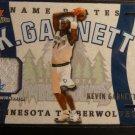 2002-03 Fleer Platinum Kevin Garnett Name Plates Patch Jersey 2 Color /400 N-KG