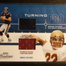 2004 Playoff Prestige DOUG FLUTIE Turning Pro Dual GU Jersey Card TP-2 #164/225