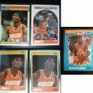 (5) Akeem Olajuwon Card Lot Fleer NBA Hoops Houston Rockets 1988 1990 1987