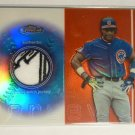 2003 Topps Finest Sammy Sosa Patch Jersey 2 Color National League Logo 1/1 Cubs