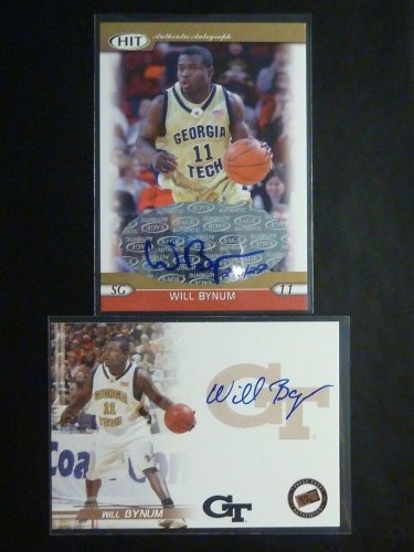 (2) 2005 Press Pass Sage HIT Will Bynum Autograph Auto Rookie Card RC #/250 LOT