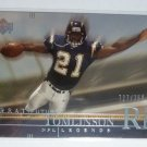 Ladainian Tomlinson 2001 UD Great Futures NFL Legends Rookie Card RC #727/750