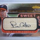 BRIAN GILES 2001 Fleer Showcase Sweet Sigs Auto Graph on Bat Baseball Card MINT