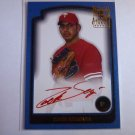 ZACH SEGOVIA 2003 Bowman Baseball RED Ink Auto Graph Issue RC Rookie #SOF-ZS SP