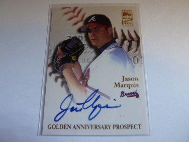 JASON MARQUIS 2001 Topps Auto Graph Card Golden Anniversary Prospect GAA-JM MINT