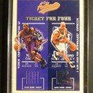 02-03 Fleer Authentix Ticket for Four VINCE CARTER McGrady QUAD NBA Jersey #/200