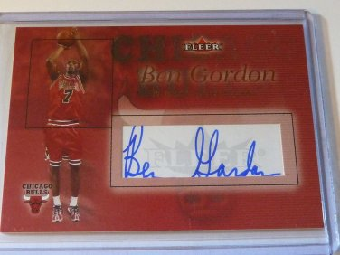 2004-05 Fleer Authentic BEN GORDON RUBY Auto Graph Rookie RC #45/75 Bulls UCONN