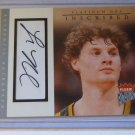 03-04 Fleer Platinum LUKE RIDNOUR Inscribed Auto Graph RC #I-LR #71/197 Ducks