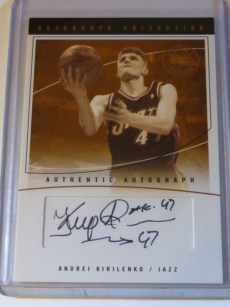 2003-04 Flair Final Edition ANDREI KIRILENKO Auto Graph Card #47/200 #AC-AK 1/1