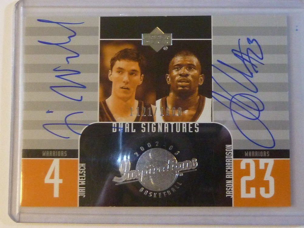 2002-03 UD Inspirations JASON RICHARDSON JIRI WELSCH Dual Auto Graph #1121/1600