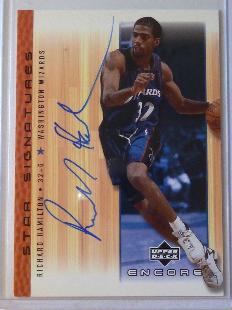 2000-01 Upper Deck Encore RICHARD HAMILTON Star Signatures Auto Graph Card Mint